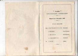 Messageries Maritimes Bateau Laos Liste Des Passagers Du 4 Novembre 1958 - Boats