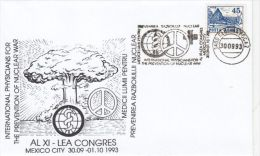 PREVENTION OF NUCLEAR WAR CONGRESS, SPECIAL COVER, 1993, ROMANIA - Atome