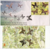 FDC + Information On Endemic Butterflies, Insect, Butterfly, Andaman, Nicobar Islands, India 2008 - Schmetterlinge