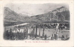 BT17316 The Bow River At Banff  Canada Scan Front/back Image - Banff