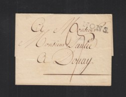 Falthülle Mons Nach Douai - 1830-1849 (Belgique Indépendante)