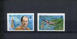 BRITISCH VIRGIN ISLANDS POSTFRIS MINT NEVER HINGED SCOTT 605-606 SCHAKEN CHESS
