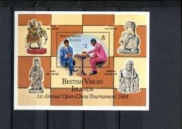 BRITISCH VIRGIN ISLANDS POSTFRIS MINT NEVER HINGED SCOTT 607 SCHAKEN CHESS