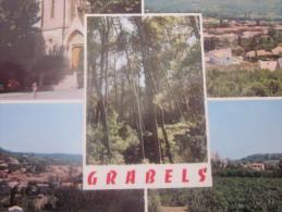 GRABELS  (Hérault) CPSM:multi Vues -place De L´église-sous-bois De La Source-et La Paillade-couleur Naturelle - Otros Municipios