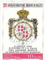 SMOM 1988 ELEZIONE ANDREW BERTIE - INTEGRO - Sovrano Militare Ordine Di Malta