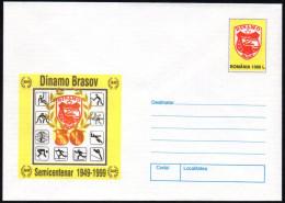 ROMANIA 1999 - STATIONERY - 50 YEARS DINAMO BRASOV - SKIING / WRESTLING / TENNIS / SKI JUMPING / BIATHLON / HANDBALL - Lotta