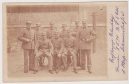 Soldaten, Wismar, Großherzogs Geburtstag,  II E 90, R.D. II Abt.  Foto-Ak, WKI - Weltkrieg 1914-18