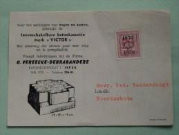 "Betonkasseiën "" VICTOR "" Ieper - Noordschote ( Chaumix 95 / Economic / Agro & Namecalc ) Anno +/- 1950 !! - Publicidad"