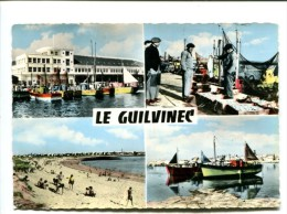 CP - GUILVINEC (29) Le Port Sa Plage - Guilvinec