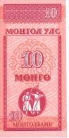 MONGOLIE  10  Mongo  Non Daté (1993)   Pick 49      ***** BILLET  NEUF ***** - Mongolia