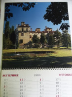 Alt394 Calendario 1989 Parete, Castelli Biellesi, Castello Massazza Castellengo Castelletto Valdengo Ternengo Verrone - Calendari