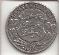 ESTONIA 1930 -  2 KROONI ARGENTO - Estonia