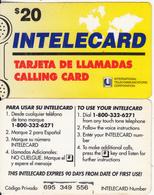 DOMINICANA - Intelecard, International Telecom Prepaid Card $20, Used