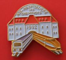 Pin´s Train TGV  Association Hospitalière Des Cheminots 1992 - TGV