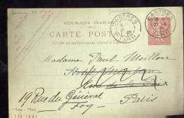 ENTIER  POSTAL  DE  CASTRES  AVEC  PHOTO  COLLEE  AU  VERSO  PARTIE  EN  1905 - Biglietto Postale