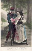 MILITARIA - GUERRE 1914-1918- ET MOI JE T' APPORTAIS CE BOUQUET TRICOLORE OU LA FILLE D' ALSACE...- PATRIOTIQUE - Guerre 1914-18