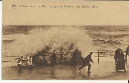 Middelkerke -- La  Mer - Un  Jour  De  Tempête.    (2 Scans) - Middelkerke