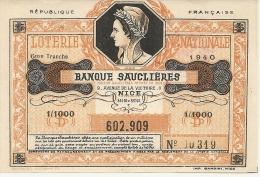 NICE . BANQUE SAUCLIERES - Billets De Loterie
