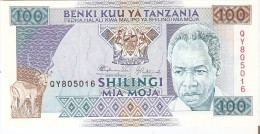 BILLETE DE TANZANIA DE 100 SHILINGI DEL AÑO 1993 (BANKNOTE) SIN CIRCULAR-UNCIRCULATED - Tanzanie
