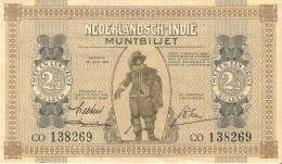BILLETE DE NEDERLANDSCH-INDIE DE 2,50 GULDEN DEL AÑO 1940 CALIDAD EBC++  (BANKNOTE) - Nederlands-Indië