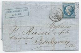- Lettre - RHONE - VIENNE - GC 4199 (au Lieu Du PC) S/TPND N°14 + Càd T.15 - 1863 - VOIR - 1853-1860 Napoléon III