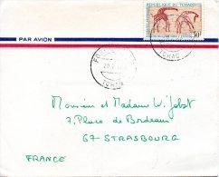 TCHAD. N°147 De 1967 Sur Enveloppe Ayant Circulé. Peinture Rupestre. - Prehistorie