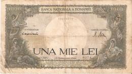 BILLETE DE RUMANIA DE 1000 LEI DEL AÑO 1944 (BANK NOTE) - Rumania