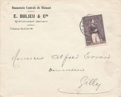 181/22 - Lettre TP 302 Léopold  60 C PERUWELZ 1930 - Entete Bonneterie Dulieu § Cie à QUEVAUCAMPS - Belgium