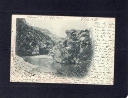 46040    Francia,   Gorges Du  Tarn,  La  Roche  Percee,  VG  1904 - Other Municipalities