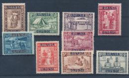 RUANDA URUNDI 1930 ISSUE COB 81/89 LH