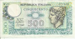 D 354A - 500 LIRE MERCURIO 2/04/1979 (W Serie Sostitutiva R) - 500 Lire