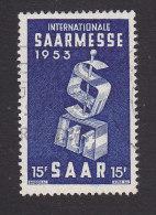 """Saar, Scott #246, Used, """"SM"""" Mongram, Issued 1953 - Ohne Zuordnung"""