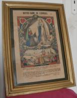 Gravure Encadrée Notre Dame De Lourdes Apparition à Bernadette, PELLERIN EPINAL - Estampes & Gravures