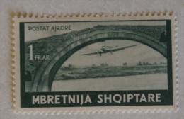 ITALIA REGNO - ALBANIA 1938 POSTA AEREA MLH* GOMMA ORIGINALE - Occupation 2ème Guerre Mond. (Italie)