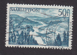 Saar, Scott #C10, Used, Shadow Of Place Over Saar River, Issued 1948 - Ohne Zuordnung