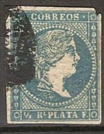 Antillas U 04 (o) Isabel II. 1856. Filigrana Lineas. - Cuba (1874-1898)
