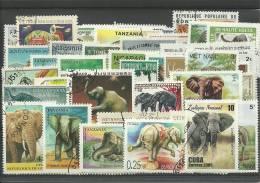 """Lot De Timbres Thematique  """" Elephants """" - Eléphants"""