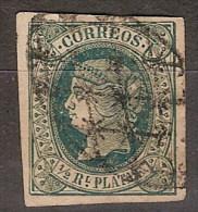 Antillas U 10 (o) Isabel II. 1864. Papel Blanco - Cuba (1874-1898)