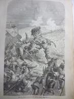 Mort De Talbot A La Bataille Castillon , 1453 , Gravure De Deschamp 1880 - Historical Documents
