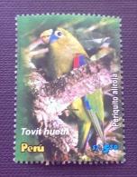Peru / 2006 / Mi 2091 / Used  / Bird, Scarlet-shouldered Parrotlet, Touit Huetii, Schwarzstirnpapagei - Peru
