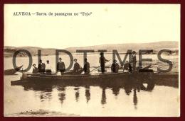 ALVEGA - BARCA DE PASSAGEM NO RIO TEJO - 1910 PC - Santarem