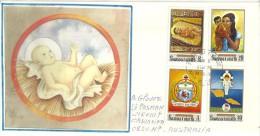 ÎLES SAMOA. Noël Aux ìles Samoa, Belle Enveloppe Adressée En Australie, Année 1970 - Samoa