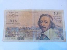 10 FRANCS RICHELIEU 1961. FRANCE. - 1959-1966 Nouveaux Francs