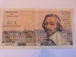 10 FRANCS RICHELIEU 1962. FRANCE. - 1959-1966 ''Nouveaux Francs''