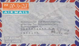 Siam VIA K.L.M. AIRMAIL Label The Siam Cement Co., BANGKOK 1949 Cover To Denmark (2 Scans) - Siam