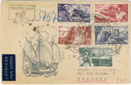 1956 Marina Mercantile Su Lettera Per L´italia - 1956 Sklep Marine Na Liście Do Włoch - 1944-.... Republik
