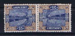 Deutsches Reich Saargebiet, Mi 56 A MH/*, Tete Beche Kehrdruckpaare - 1920-35 League Of Nations