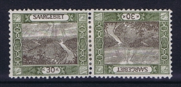 Deutsches Reich Saargebiet, Mi 57 A   MH/*, Tete Beche Kehrdruckpaare - 1920-35 League Of Nations