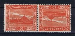 Deutsches Reich Saargebiet, Mi 59 A   MH/*, Tete Beche Kehrdruckpaare - 1920-35 League Of Nations