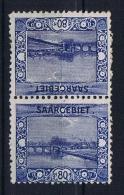 Deutsches Reich Saargebiet, Mi 62 A   MH/*, Tete Beche Kehrdruckpaare - 1920-35 League Of Nations